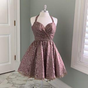 SHERRI HILL Dress - Lace Overlay
